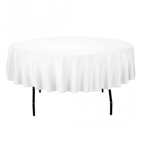 nappe blanche anti-tâches ronde 240cm