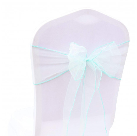 noeud de chaise en organza : tiffany