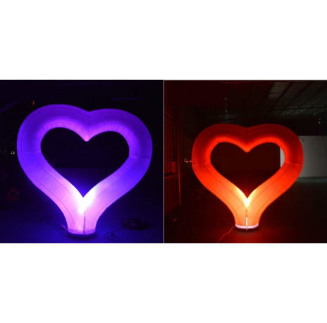coeur gonflable led 2m