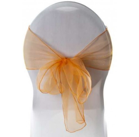 noeud de chaise en organza : Orange