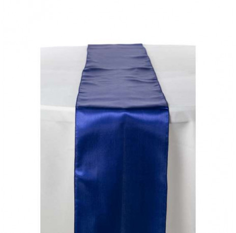 Chemin de table en satin : Bleu royal