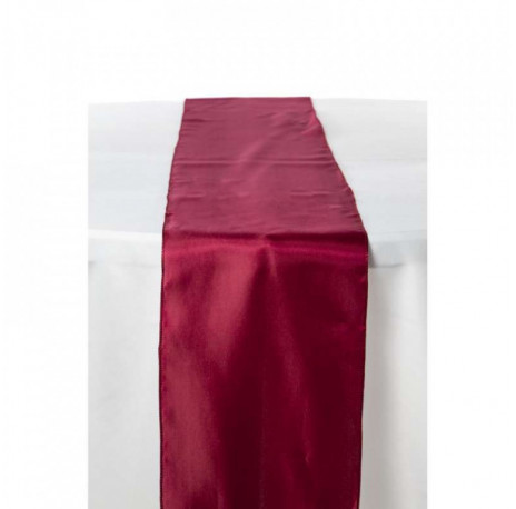 Chemin de table en satin : Bordeaux