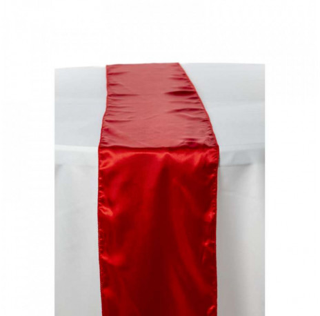 Chemin de table en satin : Rouge
