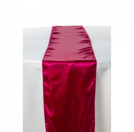 Chemin de table en satin : Fuchsia
